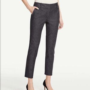 Ann Taylor Crosshatch Signature Ankle Pants